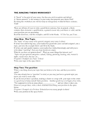 math worksheet   thesis statement activity high school how to write a thesis   Thesis Statement