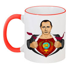 """Кружка с цветной ручкой и ободком """"Путин"""" #974949 от gopotol ..."""