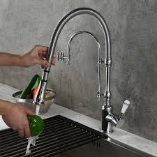 Splendid High Arc Swirling <b>Dual</b>-<b>Mode</b> Pull-Down <b>Kitchen</b> Faucet ...