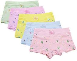 BOZEVON <b>Girl</b> Knickers - 5 Pack Cute <b>Comfortable Cotton</b> Boxers ...