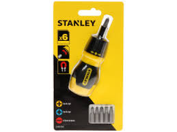 <b>Отвертка Stubby</b> Multibit <b>реверсивная</b> + 6 вставок <b>STANLEY</b> ...
