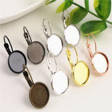 12mm <b>10pcs</b>/<b>Lot</b> Classic Colors Plated French Lever Back <b>Earrings</b> ...