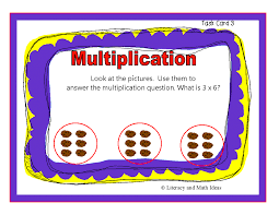 simply centers self teaching math task cards word problems number sentences illustrations and diagrams are used to explain the topics on the cards to help students deeply understand concepts