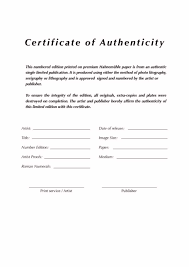 certificate of authenticity example certificate234 certificates of authenticity templates · certificate of authenticity template