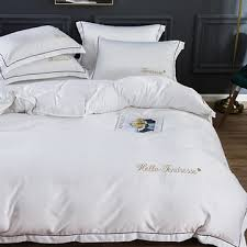 4pcs Home <b>Bedding Set Luxurious</b> Simple Double-sided <b>Ice</b> Silk ...