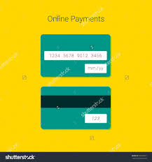 online payment form template vector credit stock vector  online payment form template vector credit card material design