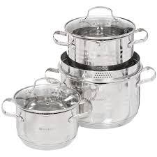 <b>Набор посуды</b> из нержавеющей стали Daniks Токио SD-A87-<b>6</b> ...