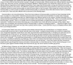 essays on homosexuality  atsl my ip meethical essay on homosexuality and judaism quot essays on homosexuality and society essay for college at