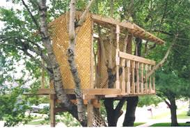 Free Standing Tree House Plans   Woodworking Database