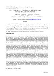 influence of flocculation on sewage sludge <b>thickening</b> and dewatering