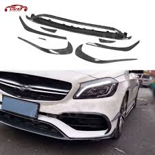 For <b>W176 Front Lip</b> Spoiler Splitters Canards For Benz A Class ...
