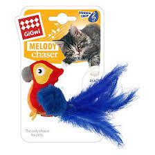 <b>GiGwi Игрушка</b> для кошек <b>Melogy Chaser</b> Попугай со звуковым ...