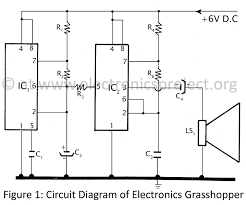 electronics grasshopper   electronics projectcircuit diagram of electronics grasshopper