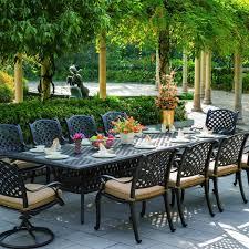 patio dining: darlee nassau  piece cast aluminum patio dining set