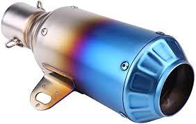 Acouto Universal <b>Exhaust Muffler Tail Pipe</b> Tailpipe Tip 51mm/2inch ...