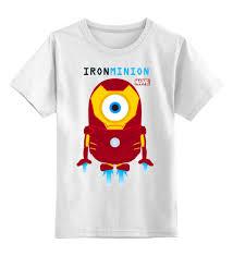 Детская <b>футболка классическая</b> унисекс Minion <b>IRON</b> MAN ...