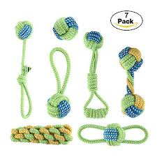 <b>7PCS Pet Dog</b> Knot Toys <b>Puppy Dog Cat</b> Rope Type Dumbbell Toys ...