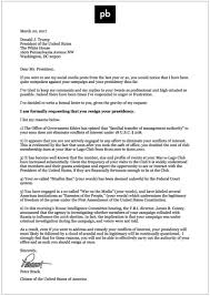 a formal request for the resignation of the 45th president of the a formal request for the resignation of the 45th president of the united states of america