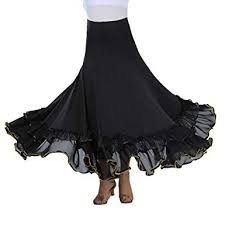 Tookang Flamenco Ballroom Waltz <b>Latin Dance Skirt</b> Belly Dance ...
