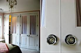 French Closet Doors With Frosted Glass Decor