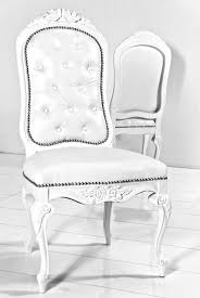 faux leather dining chair black:  monte carlo dining chair in white faux leather