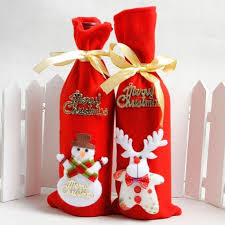 Santa Claus <b>Christmas decorations sequined</b> red wine bottle bags ...