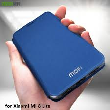 <b>MOFi</b> Case for <b>Xiaomi Mi 8</b> Lite Flip Case for <b>Mi8</b> Lite Cover PU ...