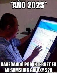 Meme Samsung Galaxy S20 año 2023 | Memes descargas via Relatably.com