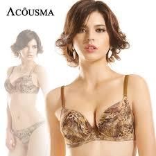 ACOUSMA Women Leopard Print Bra Sets <b>Push Up Sexy Hot</b> ...