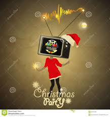 christmas party flyer tv head gril on high no signal royalty christmas party flyer tv head gril on high no signal