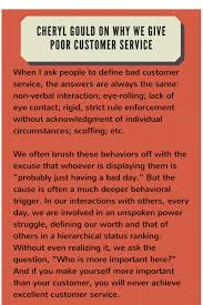 a facilitative mindset five steps to a customer service culture sidebar why we give poor customer service
