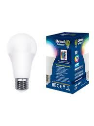 "<b>Лампа</b> светодиодная с ИК сенсором, ""груша"", <b>RGB</b>, свет ..."