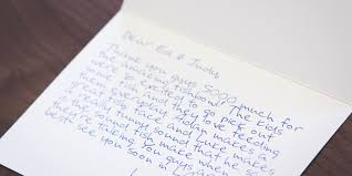 how to write a killer customer thank you note postable prints your custom message in one of its patented handwriting fonts on its 100% recycled cards and stamps and mails the cards for you