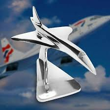 Executive Stainless Steel Concorde Jet <b>Model</b> 46cms | eBay