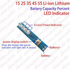 1S 2S 3S 4S 5S Lithium <b>Li-ion Battery</b> BMS <b>Capacity</b> Guage Level ...