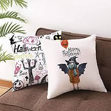 Juanya 4 Pack <b>Halloween</b> Pumpkin Face Peach Skin Cushion ...