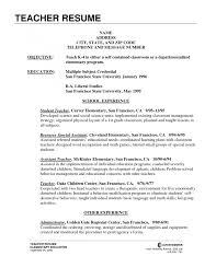 elementary education resume ideas about teacher resumes on new