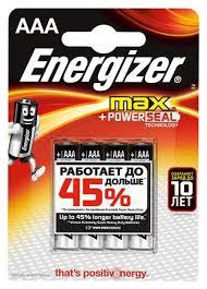 <b>Батарейка Energizer</b> MAX <b>E92</b>/<b>ААА</b> BP4 4 шт, купить в Москве ...