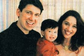 Married with Shri Ram Nene , a Los Angeles based surgeon, on Oct 17, 1999. he has two sisters (Bharati & Sanjay Adkar living in Saratoga, CA and Rupa Dixit ... - madhuri_dixit_with_family
