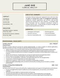 Breakupus Nice Clinical Analyst Resume Example Certified Legal