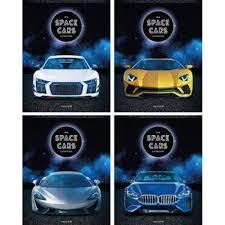 <b>Тетрадь</b> 80л А5 клетка Space cars спираль спец цена, купить в ...