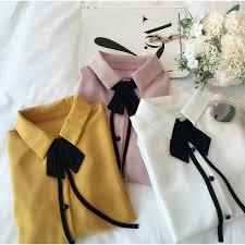 <b>korean style women</b> ladies <b>chiffon</b> shirt blouse baju baju wanita ...