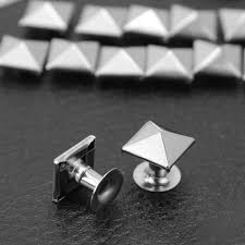 <b>100x Punk Rock Pyramid</b> Rivet Studs Belt Bag Shoe Decoration ...