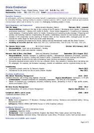 dixie embleton cv msc global marketing management