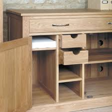 mobel oak hidden home office chadwick satin lacquered oak hidden