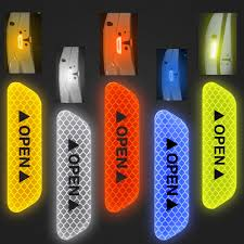 <b>4Pcs Car Open</b> Reflective Tape Reflective Strips Waterproof Car ...