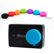 <b>2pcs</b>/<b>lot</b> Protective Silicone Camera Lens Cap <b>Cover</b> for xiaomi YI ...