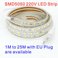 SMD <b>5050</b> AC <b>220V LED Strip</b> White Outdoor Waterproof <b>220V</b> ...
