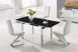 leather dining chairs table