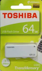 <b>Флешка USB 64Gb</b> Toshiba U-<b>Drive</b> U203 THN-U203W0640E4 ...